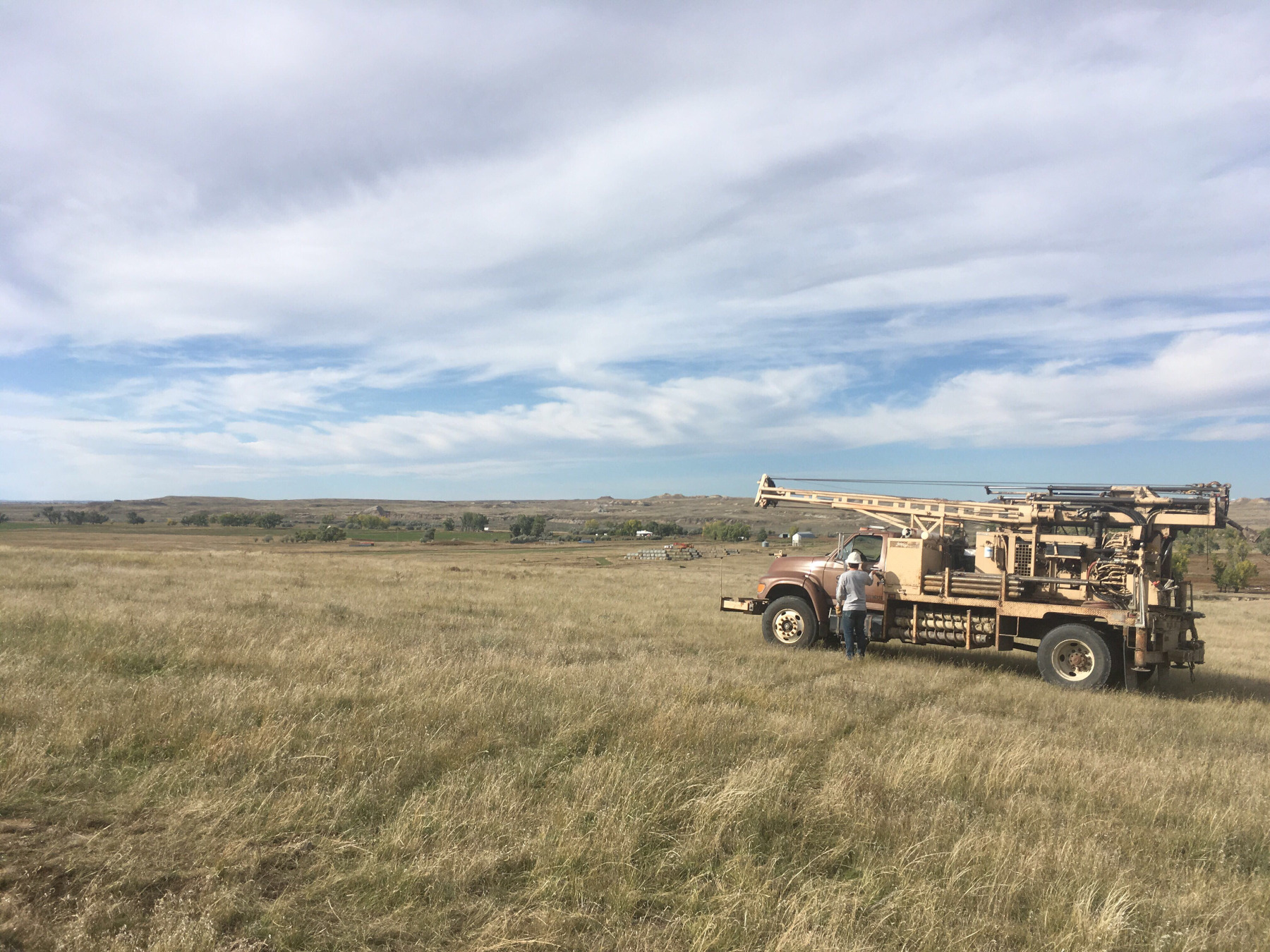 SK Geotechnical on Junction 462 project east of Jordan, Montana with CME75HT Drillrig